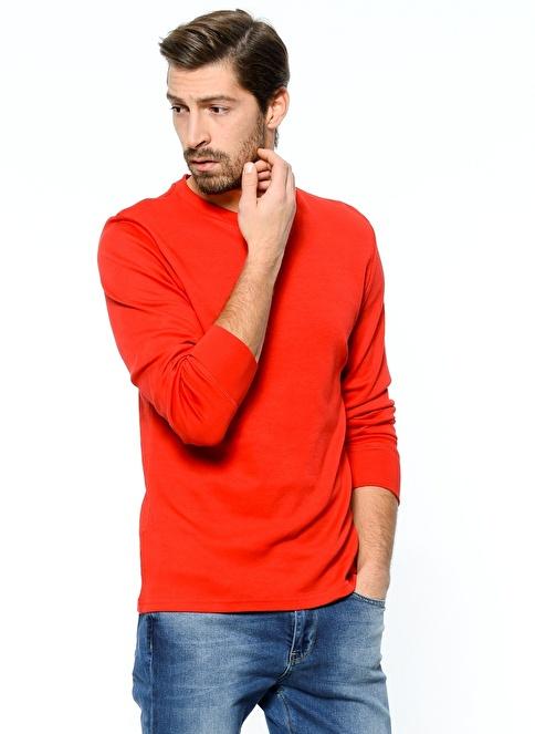 Grip Uzun Kollu Sweatshirt Kırmızı